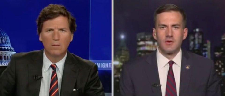 Tucker Carlson and Colin Schmitt (Screenshot/Fox News)