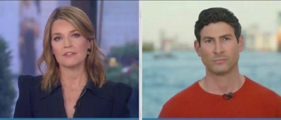 Savannah Guthrie and Sam Brock (Screenshot/NBC)