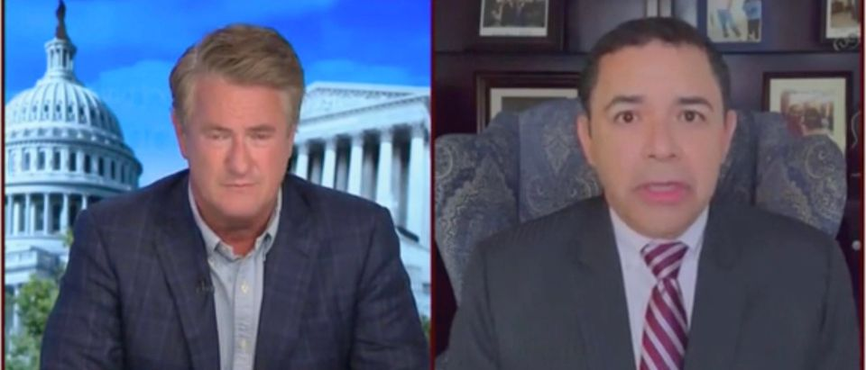 Joe Scarborough and Rep. Henry Cuellar (Screenshot/MSNBC)