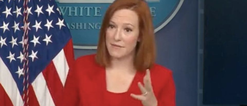 ScreJen Psaki holds daily White House press briefing. Screenshot/YouTubeen Shot 2021-04-12 at 12.44.59 PM