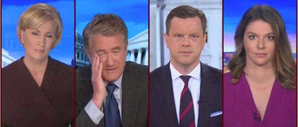Mika Brzezinski, Joe Scarborough, Willie Geist, and Kasie Hunt (Screenshot/MSNBC)