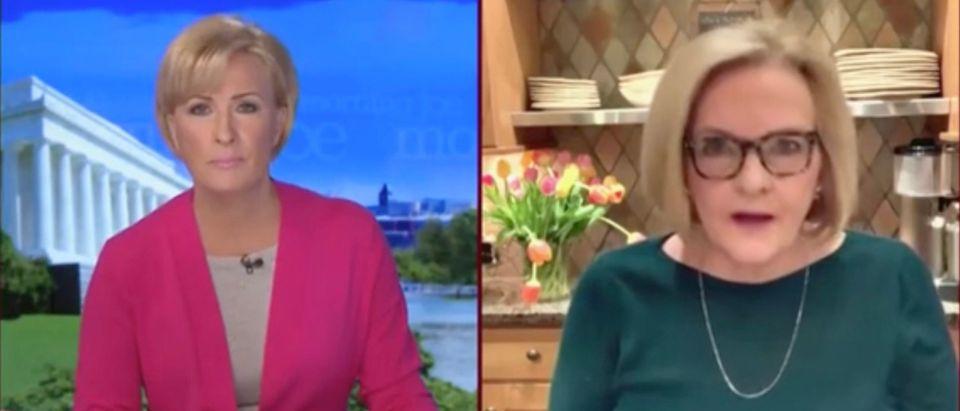 Mika Brzezinski and Claire McCaskill (Screenshot/MSNBC)