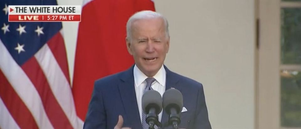 President Joe Biden gives press conference. Screenshot/Fox News