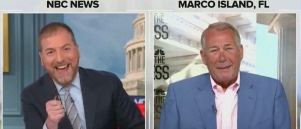 Chuck Todd and John Boehner (Screenshot/NBC)