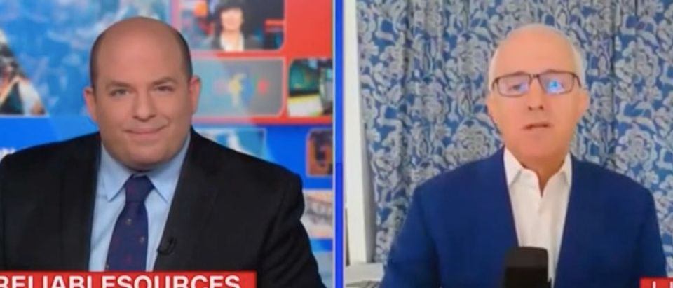"""Brian Stelter and Malcolm Turnbull appear on """"Reliable Sources."""" Screenshot/CNN"""