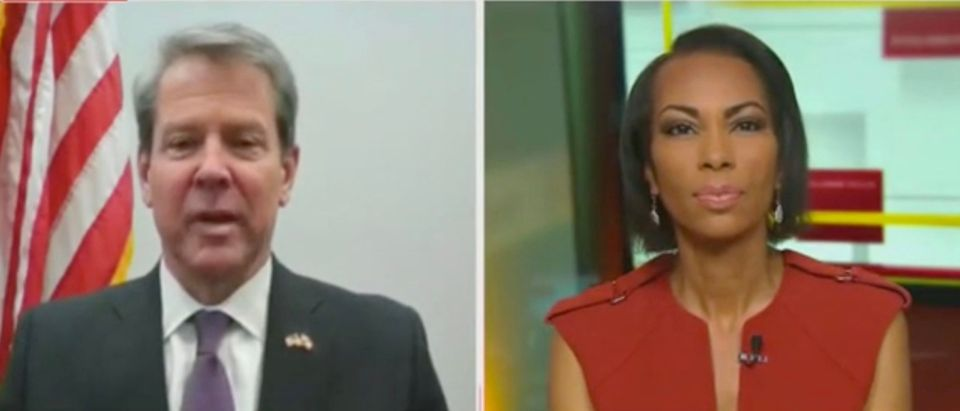 Gov. Brian Kemp and Harris Faulkner (Screenshot/Fox News)