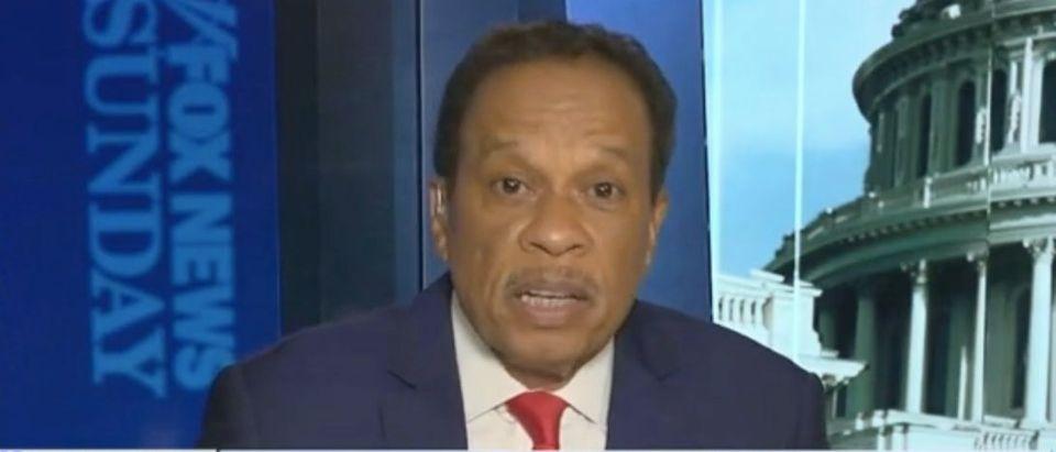 "Juan Williams appears on ""Fox News Sunday."" Screenshot/Fox"