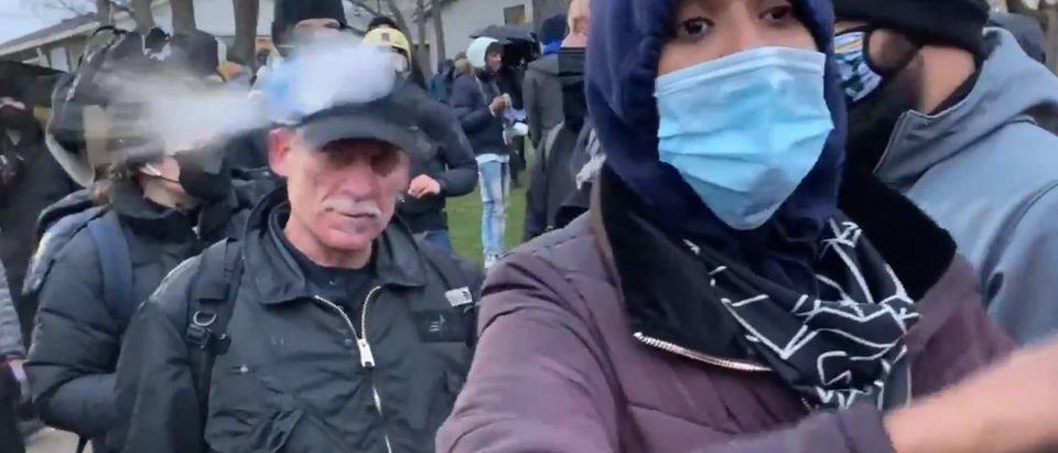 CNN Camera Crew Pelted