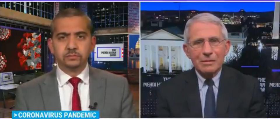 Anthony Fauci on MSNBC