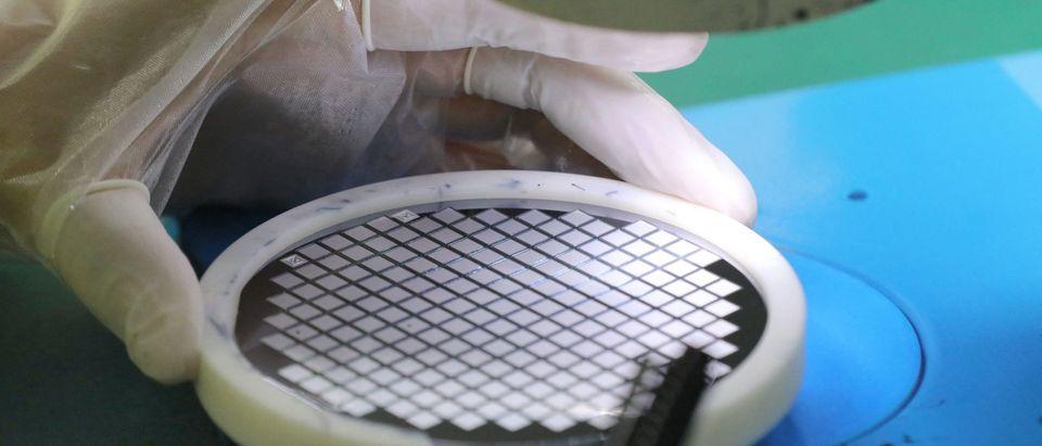 CHINA-ECONOMY-TECHNOLOGY chip semiconductor