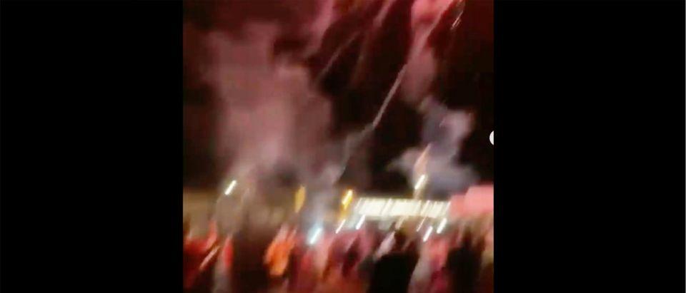 UMass Celebration (Credit: Screenshot/Instagram Video https://www.instagram.com/p/CNgn1oxBHaj/)