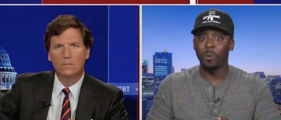Colion Noir and Tucker Carlson