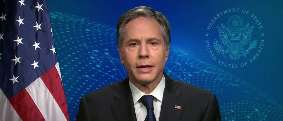 "Sec. of State Tony Blinken on ""Meet the Press,"" April 11, 2021. (Youtube screen capture/NBC News)"