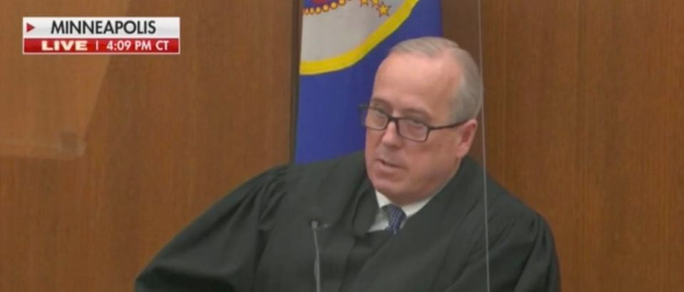 The judge in Derek Chauvin's trial discussed Maxine Waters' recent comments after closing arguments. (Screenshot Fox News)