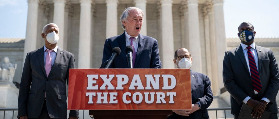 House Judiciary Chairman Jerry Nadler And Sen. Ed Markey Hold News Conference On Supreme Court Expansion Legislation
