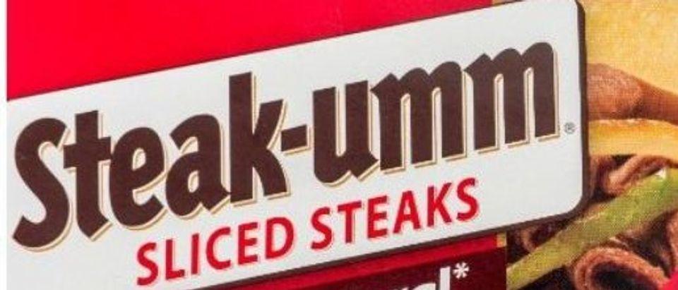 [A box of Steak-umm sliced steaks — Shutterstock, Keith Homan]
