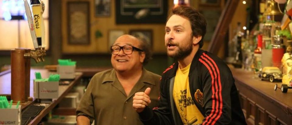 """IT'S ALWAYS SUNNY IN PHILADELPHIA -- """"The Gang Gets Romantic"""" – Season 14, Episode 1 (Airs September 25, 10:00 pm e/p) Pictured: (l-r) Danny DeVito as Frank, Charlie Day as Charlie. CR: Patrick McElhenney/FXX"""