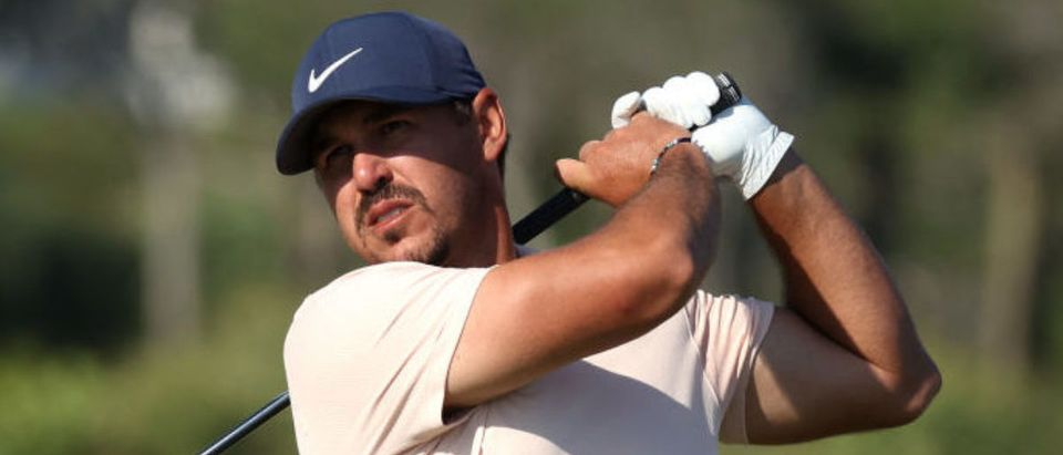 KIAWAH ISLAND, SOUTH CAROLINA - MAY 23: Brooks Koepka of the United States plays his shot from the 12th tee during the final round of the 2021 PGA Championship held at the Ocean Course of Kiawah Island Golf Resort on May 23, 2021 in Kiawah Island, South Carolina. (Photo by Gregory Shamus/Getty Images)