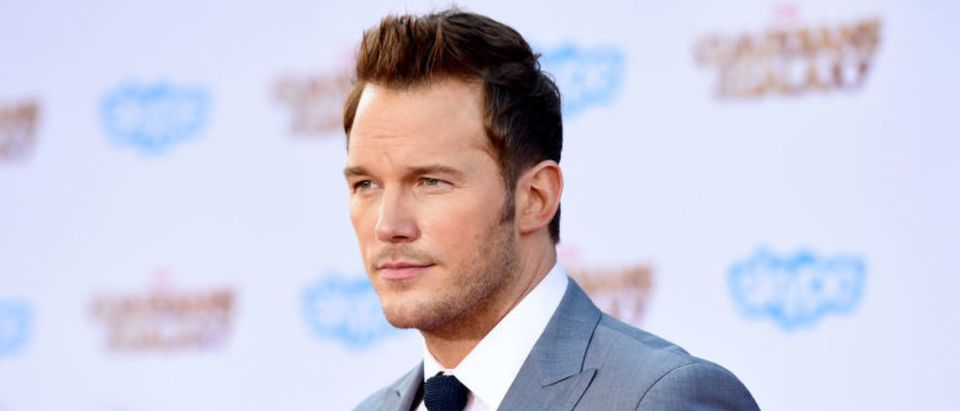 """HOLLYWOOD, CA - JULY 21: Actor Chris Pratt attends the premiere of Marvel's """"Guardians Of The Galaxy"""" at the Dolby Theatre on July 21, 2014 in Hollywood, California. (Photo by Jason Merritt/Getty Images)"""