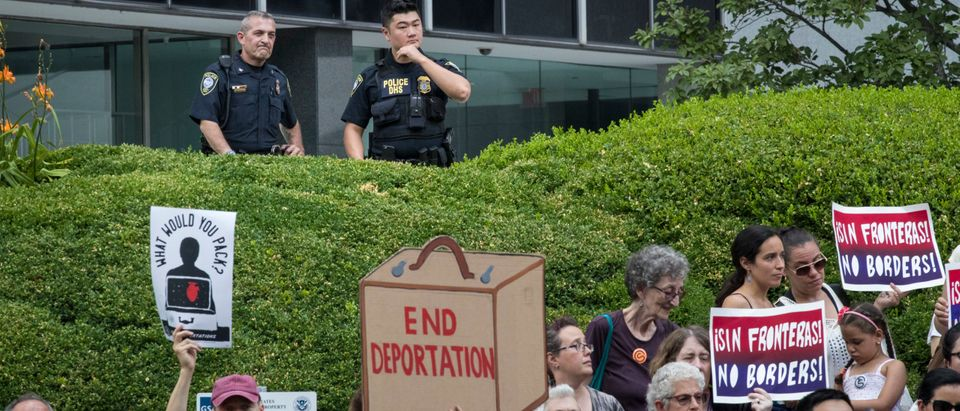 Activists Demonstrate In Lower Manhattan On Day Of Gov't Deadline To Reunite Detained Immigrant Children With Their Parents
