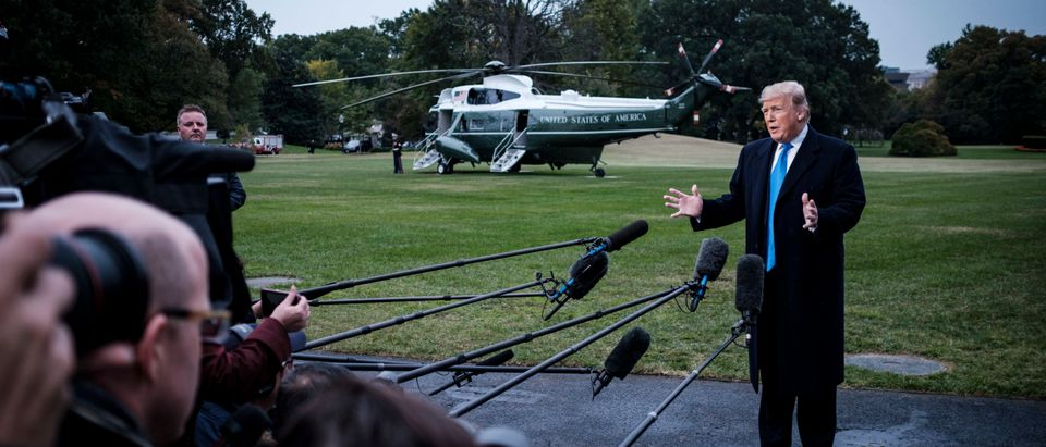 President Trump Departs The White House For Charlotte. NC