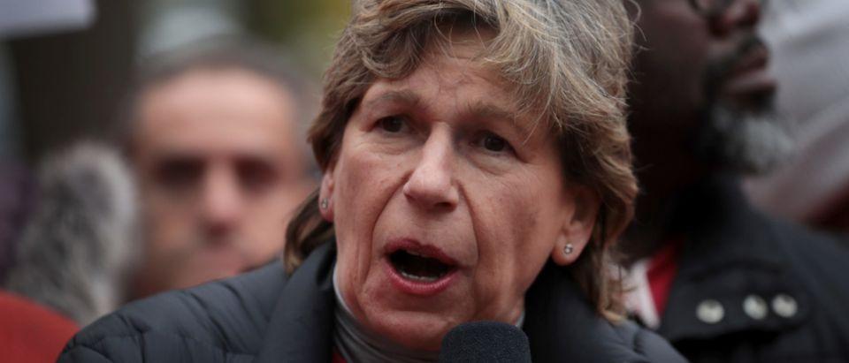 Presidential Candidate Elizabeth Warren Visits Chicago Teachers On Strike