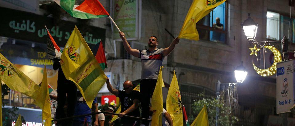 Supporters of Fatah in Ramallah