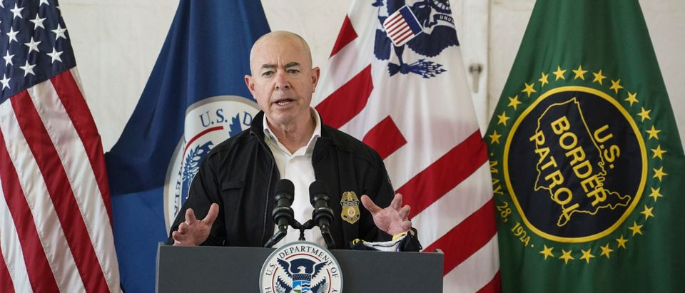 DHS Secretary Mayorkas Tours TX Processing Facility For Undocumented Immigrants