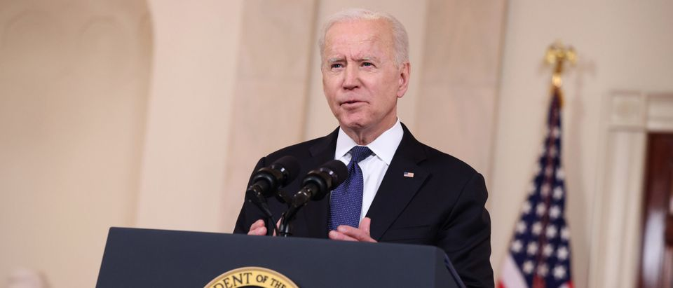 U.S. President Joe Biden delivers remarks on the conflict in the Middle East from the White House on May 20, 2021 in Washington, DC. (Anna Moneymaker/Getty Images)