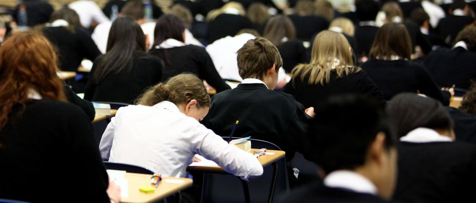 GLASGOW, UNITED KINGDOM - FEBRUARY 05: Pupils at Williamwood High School sit prelim exams on February 5, 2010 in Glasgow, Scotland As the UK gears up for one of the most hotly contested general elections in recent history it is expected that that the economy, immigration, the NHS and education are likely to form the basis of many of the debates. (Photo by Jeff J Mitchell/Getty Images) Note: School pictured is not the school in the story.