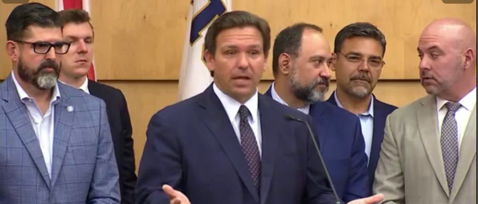Ron DeSantis holds a press conference in Miami signing legislation to protect Floridians from Big Tech