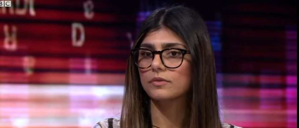 Mia Khalifa discussing the porn industry on BBC News