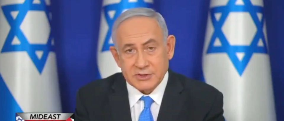 Israeli Prime Minister Benjamin Netanyahu speaks Sunday on CBS' Face The Nation [Twitter:Screenshot:Nicholas Fondacaro]