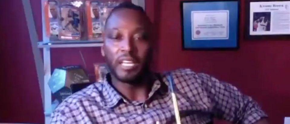 Kwame Brown (Credit: Screenshot/Twitter Video https://twitter.com/TheNBACentral/status/1394129333032267777)
