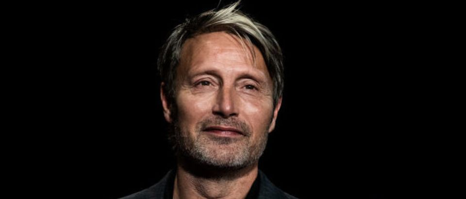 Danish actor Mads Mikkelsen arrives for the opening ceremony of the 12th edition of the Lumiere Film Festival in Lyon, central eastern France, on October 10, 2020. (Photo by JEFF PACHOUD/AFP via Getty Images)