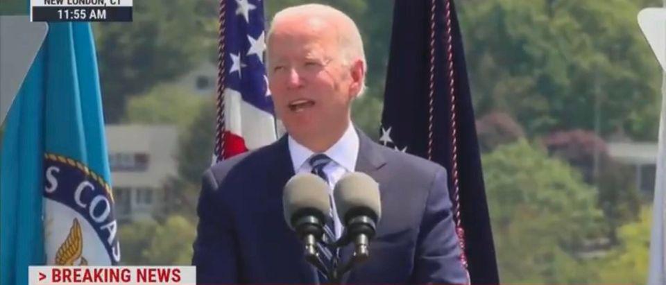 President Joe Biden. (Screenshot/MSNBC)