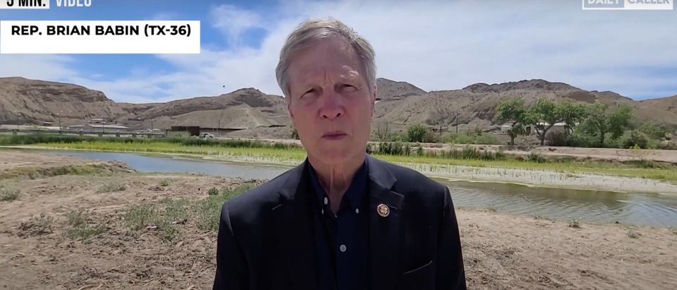 R-TX Rep. Brian Babin speaks on border crisis [Youtube:Screenshot:Daily Caller]