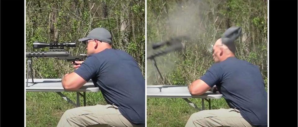 Rifle Explosion (Credit: Screenshot/YouTube https://www.youtube.com/watch?v=1449kJKxlMQ)