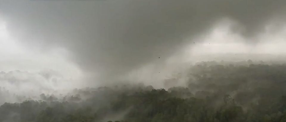 Tornado Storms in Yazoo City, Mississippi