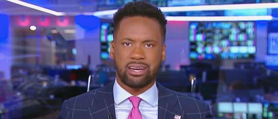 "Lawrence Jones appears on ""The Five."" Screenshot/Fox News"