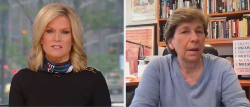 "Martha MacCallum and Randi Weingarten appear on ""The Story."" Screenshot/Fox News"
