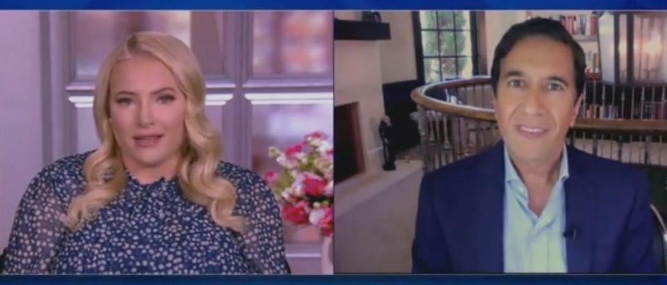 "Meghan McCain and Dr. Sanjay Gupta appear on ""The View."" Screenshot/ABC"