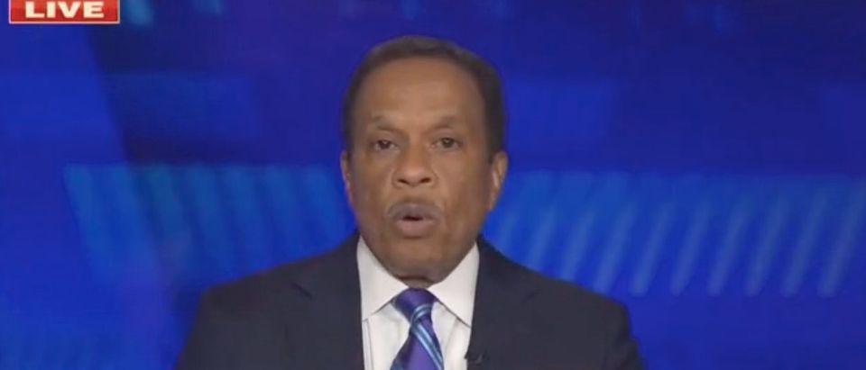 "Juan Williams appears on ""The Five."" Screenshot/Fox News"