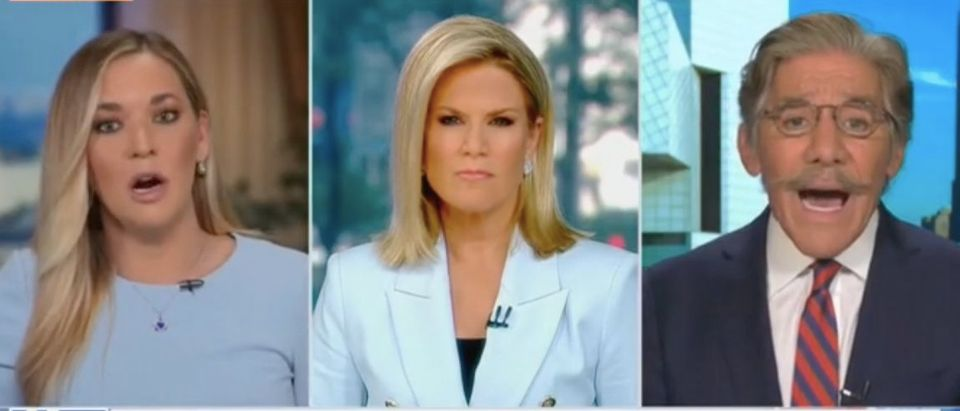 "Katie Pavlich, Martha MacCallum and Geraldo Rivera appear on ""The Story."" Screenshot/Fox News"