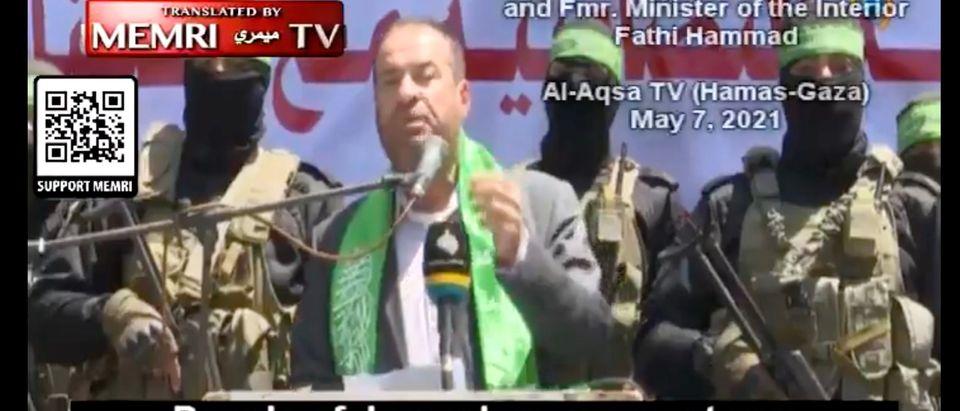 Senior Hamas official reportedly calls for Palestinians in Jerusalem to behead Jews [Twitter:Screenshot:MEMRI]