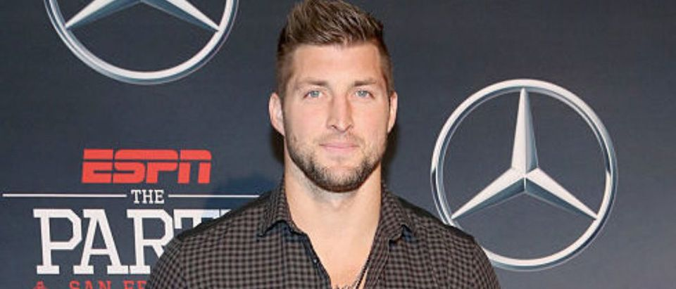 SAN FRANCISCO, CA - FEBRUARY 05: NFL player Tim Tebow attends ESPN The Party on February 5, 2016 in San Francisco, California. (Photo by Robin Marchant/Getty Images for ESPN)