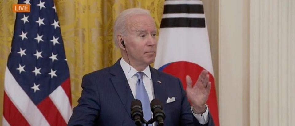 Joe Biden said the Democratic Party still supports Israel. (Screenshot ABC News)