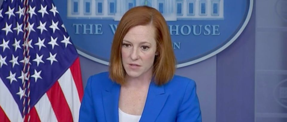 Jen Psaki addressed the ongoing sparring between some Democrats and President Joe Biden regarding his support for Israel. (Screenshot The Washington Post)