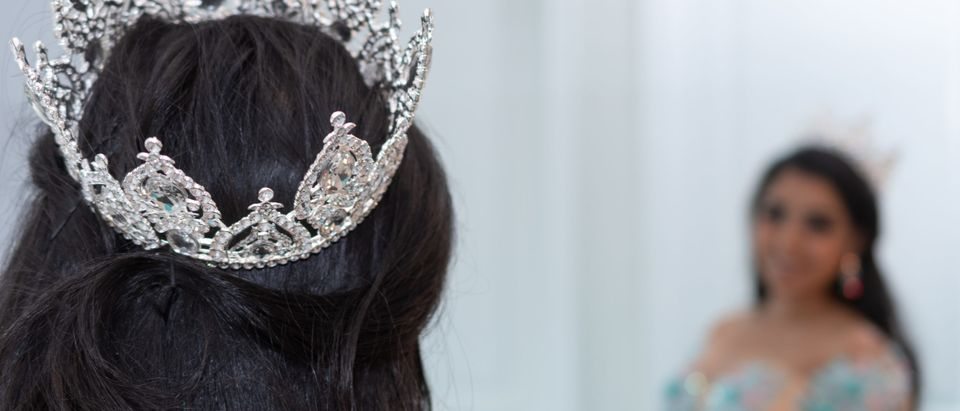 Young, teen wearing a tiara. [Shutterstock] Note: The individual in this photo is not the individual mentioned in the story