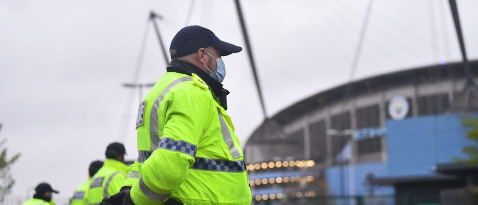 Manchester City Fans Gather Outside Etihad Stadium